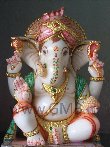 "Lord Ganesha wearing Turban 12"" - GNS12020"