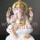 "Marble Lord Ganesh Statue 12"" - GNS12001"