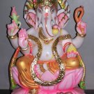 "Exquisite Lord Ganesha Statue from Marble 18"" - GNS18010"