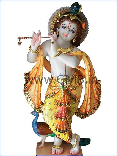 "Exquisite Lord Krishna Statue 24"" KSN24003"