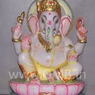 "Marble Statue of Lord Ganesh 09"" - GNS09004"
