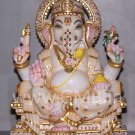 "Marble Statue of Lord Ganesh 09"" - GNS09006"