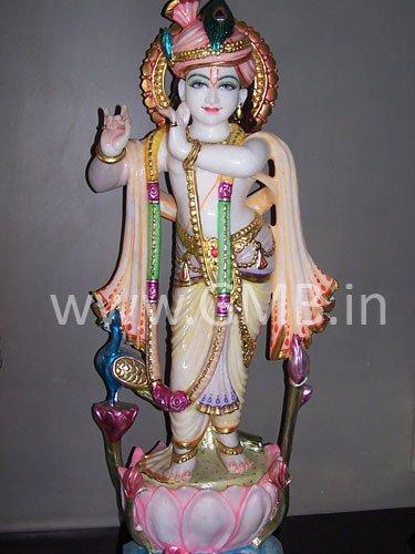 "Beautiful Lord Krishna Statue 27"" KSN27001"