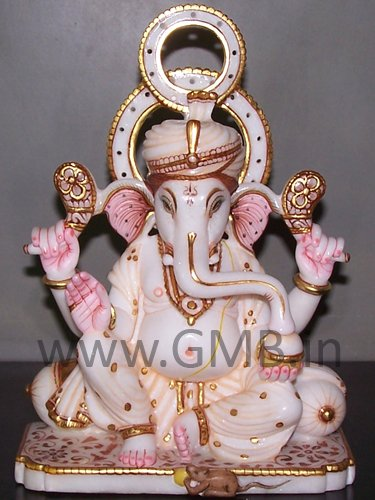 """Lord Ganesh Statue 09"""" - GNS09010"""