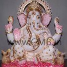 "Marble Ganesha Statue 12"" - GNS120022"