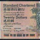 UNC Hong Kong Standard Chartered Bank 1999 HK$20 Banknote : EX 633333