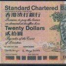 UNC Hong Kong Standard Chartered Bank 1999 HK$20 Banknote : EP 999777