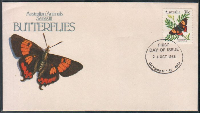 Australia FDC / First Day Cover : Butterflies 24 Oct 1983