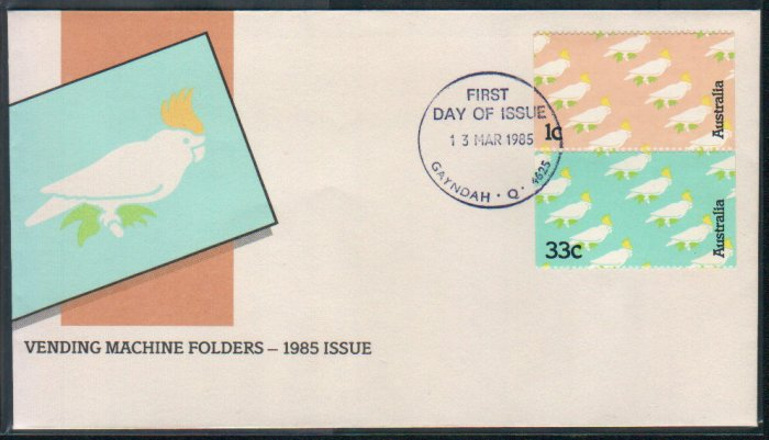 Australia FDC / First Day Cover : Vending Machine Folders 1985