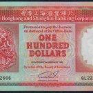 UNC Hong Kong HSBC 1992 HK$100 Banknote : QL 222666