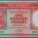UNC Hong Kong HSBC 1992 HK$100 Banknote : QM 555888