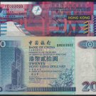 UNC Hong Kong Bank of China + SAR Government Banknote : 003003, 003003 (Repeater)