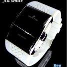 UNISEX  Bracelet watch white Case/ Red Led