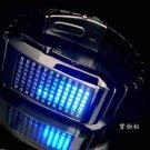 UNISEX Japanese LED WATCH Black CASE & BLUE LED