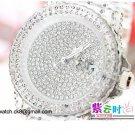 09 Ladies' Fantastic shiny stone watch- white