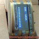 TOKYO  Japanese LED WATCH GOLD & BLUE LED