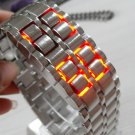 tokyo Japanese LED WATCH SILVE CASE & red LED