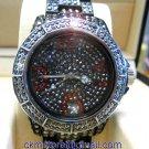 Ladies' Fantastic shiny stone watch- black st02