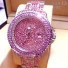 Ladies' Fantastic shiny stone watch- Pink ST08