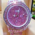 Ladies' Fantastic shiny stone watch- pink st18