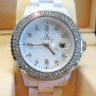 Ladies' Fantastic shiny stone watch- white st16