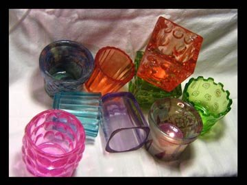 Funky Glass Votives