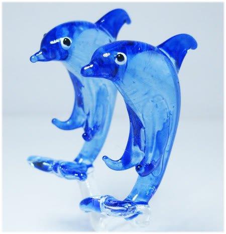 HAND BLOWN GLASS DOLPHIN fish CRYSTAL FIGURINE MODEL 492