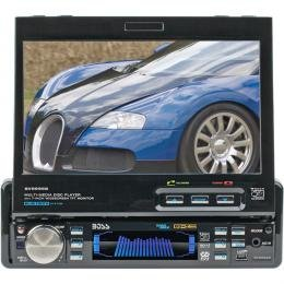 Boss 7 Motorized Single-DIN Touch Screen Widescreen Monitor/Receiver with Bluetooth®""