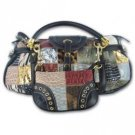 Gigi Chantal™ Multi Colored Purse with Black Trim (FREE SHIPPING)