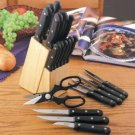 Diamond Cut® 22pc Cutlery and Wood Block