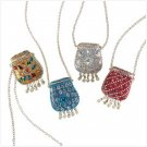 4 Pack Mini Purse Pendant  & Chain