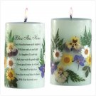 Bless Home Flowers Green Candle