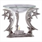 PEWTER MOON AND STAR OIL BURNER
