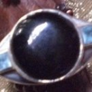 Wellspring Prosperity Tachyon Onyx & Blue Topaz Sterling Silver Ring