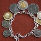 Wellspring Prosperity Tachyon Sterling Silver Coin Bracelet