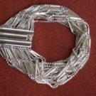 Wellspring Prosperity Tachyon Sterling Silver Infinity Link Bracelet