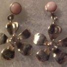 Tachyon Sterling Silver Pink Opal Crystal Flower Earrings