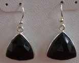 Tachyon Sterling Silver Onyx Pierced Earrings
