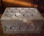 Tachyon Genuine Hand Carved Soapstone Jewelry Trinket Box
