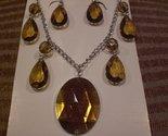 Tachyon Bronze Necklace and Earrings Set