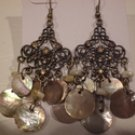 Tachyon Mother of Pearl & Crystal Earrings