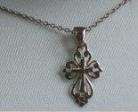 Tachyon Sterling Silver Petite Cross Pendant Necklace