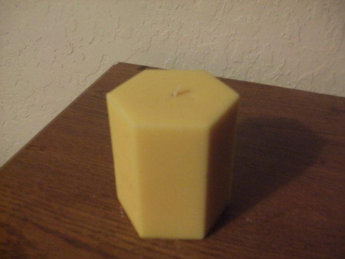 Hexagon Pillar candle