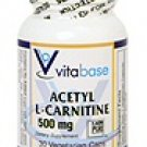 SV2523 500mg Acetyl L-Carnitine 30 Vegetarian Capsules