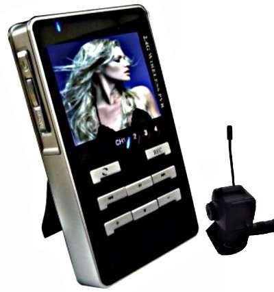2.5 Inch Screen Wireless Receiver + Mini Camera