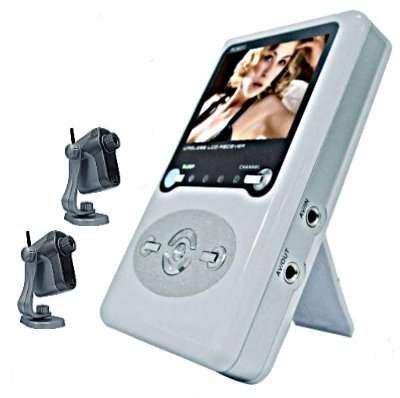 2.5 Inch Wireless Receiver + 2 Wireless Camera
