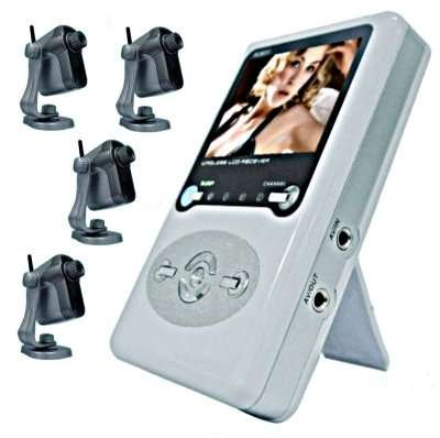 Wireless Baby Monitor Set With 4 Wireless Cameras