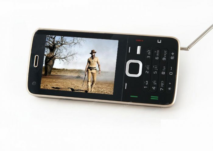 Quad-Band Dual card dual standby touch screen TV mobile phone