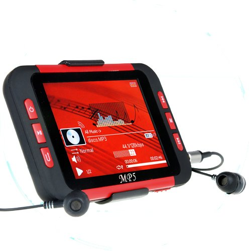16GB 3.5 Inch MP5 Player with Card Slot - Red/Black