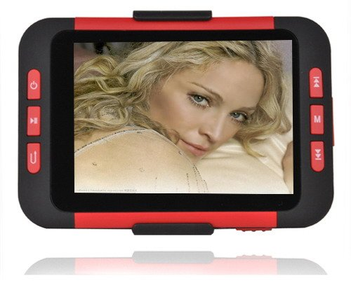 4GB 3.5 Inch MP5 Player with Card Slot - Red/Black